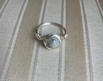 Gray Agate Ring