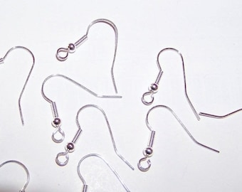 500 supports earrings silver silver hooks nickel lead cadmium free