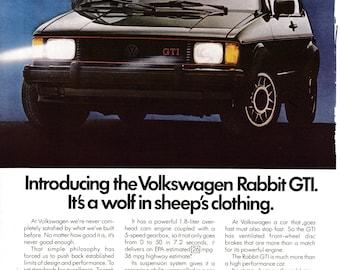 1983 VW Rabbit GTI -1.8 Liter-A Wolf In Sheep's Clothing - Original Magazine Ad