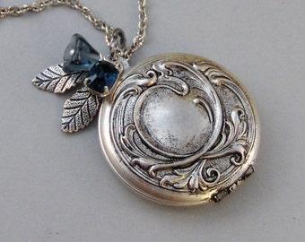 Sapphire Maiden,Sapphire Necklace,Vintage Sapphire,Vintage Locket,Sapphire Locket,Sapphire Jewelry,Sapphire,Blue Locket, valleygirldesigns