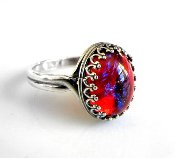 Dragons Breath Mexican Fire Opal Ring