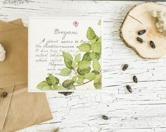 Oregano jewelry box - Botanical box - Decoupaged box - Jewelry box wood - Botanical decor