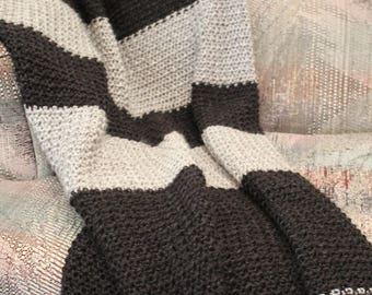 Black & Grey hand crochet blanket