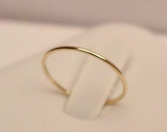 18k gold ring, 18k Stack Ring,18k Yellow Gold Ring, 18k white gold ring, 18k midi ring, 18k rose gold ring, 18k knuckle ring, 18k band ring