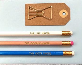 Fun Pencils - Pack of 3 Pencils - Secret Santa Gift - Pencils - Stocking Filler - Stocking Stuffer - Christmas Gift - Birthday Gift