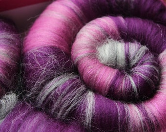 "Sweet Rolls - Rolags - Punis - Fiber hand blended for spinning - ""Juliet"" - Ready To Ship"