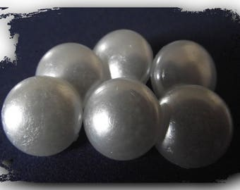 10 buttons 1/2 sphere iridescent white * walking * 13 mm 1.3 cm button sewing notions 1/2 ""