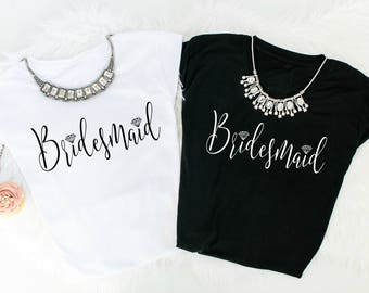 Bridesmaid Shirt, Wedding Party Shirt, Bridal Party Shirt, Bridal Shower Gift, Wedding Shower Gift, Bachelorette shirt, Bachelorette Gift