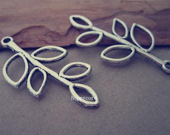 10pcs Antique Silver branch Pendant charm 19mmx39mm