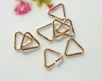 10, 20, 50 pcs, 5mm, 22ga, 14K Gold Filled open Triangle jump rings