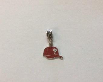 Philadelphia baseball cap charm