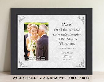Father-of-the-Bride-Gift Favorite Walk Bridal Wedding Frame Personalized Custom Bridal Frame Wedding Gifts for Dad