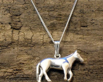 Horse pendant, Horse Necklace,  Horse Jewellery, Silver, Handmade, Pony Necklace, Animal Jewellery, Horse gifts, Pony Pendant, Pony Gifts,