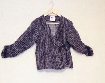 Flax linen jacket lagenlook size medium