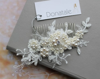 Bridal hair comb, Bridal hair Accessories,Bridal headpiece, Wedding hair comb, Wedding Headpiece , Bridal hair piece - IVANNA