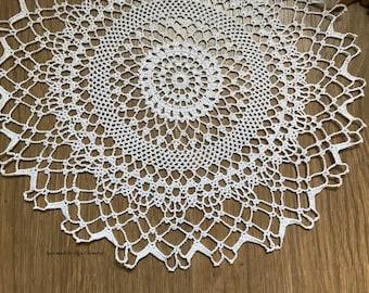 Crochet doily, Crochet lace, Round doily, round doily, Lace,  Crochet table doily, Knit doily, gehäkelte serviette, Doilies, Napkin, Lace