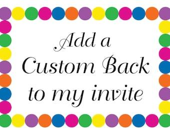 Add a Custom Back Design to a Colors of Summer Invitation Design