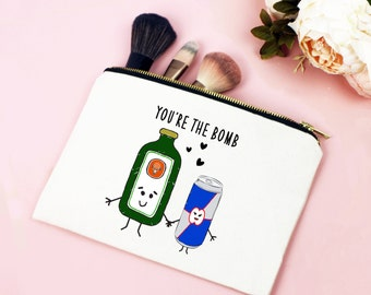 You're The Bomb Cosmetic Bag, Make Up Bag, Jagermeister, Best Friend Gift, Jager, Friendship Quote, Love Quote, Friend Gift, Make Up Holder