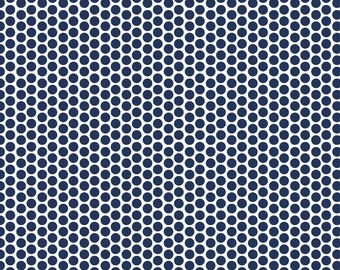 Navy Blue Fitted Crib Sheet, Honeycomb Dot Crib Sheet, Boy Crib Bedding, Neutral Baby Nursery Bedding, Girl Navy Crib Bedding