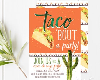 cinco de mayo invitations fiesta party printable party