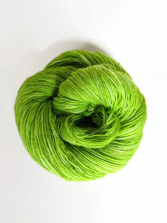 LIME hand dyed yarn