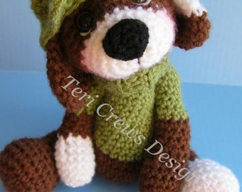 Simply Cute Dog Crochet Pattern by Teri Crews Instant Download Digital PDF