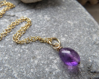 Regal Purple and Gold Filled Amethyst Pendant
