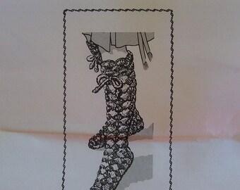 Vintage Crocheted Slipper Boots PDF Pattern - Design 7211