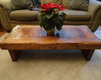 Authentic Old Growth Coffee Table - 4 inch thick top