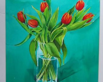 Tulips - Original Watercolour Painting