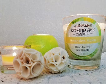 Honeydew Melon Scented 5oz Glass Container Candle