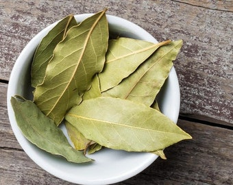 Bay Leaves - Cinnamomum tamala - Premium aromatic Dried Whole Bay leaf - 100% Natural Organic - No additives, preservatives