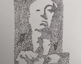 Hitchcock drawing