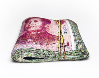 Folded Banknote Shape Pillow, Renminbi - Free shipping world-wide