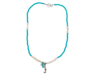 Mermaid Pearl Necklace in Grotto