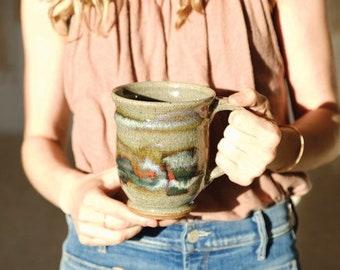 Vintage Ceramic Glazed Coffee Tea Mug