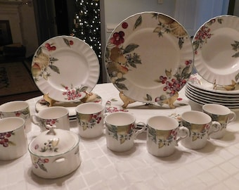Nature's Imagery Scenery Mikasa Partial Service for 4 Replacement Pieces Plates Bowls Cups Sugar