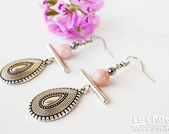 TEARDROP EARRINGS, Mothers day gift, Geometric earrings, Minimalist earrings, Dangle drop earrings, Silver earrings, Gift for mother
