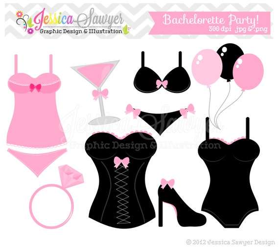 instant download bachelorette party clip art bridal shower rh etsy com bridal shower clip art borders bridal shower clip art for invitations