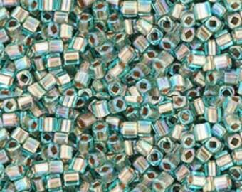 Toho 1.5mm Cube G/L Rainbow Aqua 13g.
