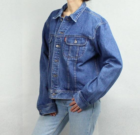 DKNY 90s jean jacket - 90s jean jacket - 90s Denim jacket - Blue jean jacket - blue denim jacket - Distressed denim jacket - medium KomqPj