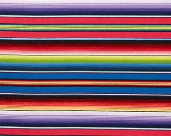 1 Yard Fiesta Mexican Blanket Stripe from Elizabeth's Studio Cotton Quilt Fabric 263 Blue Cotton Fabric