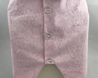 Pink paisley dog vest, Ready to Ship, Premade, Medium size,Wedding dog vest, Grooms dog vest, fancy formal vest, affordable dog vest, Pink
