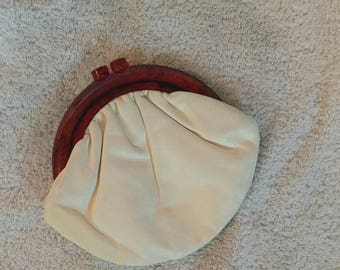 1940s Small Leather Purse