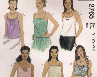 McCall's Sewing Pattern 2765 - Misses' Summer Tops (4-10, 12-18)