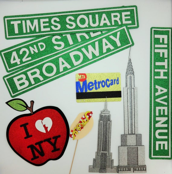 26pc Big Apple Photo Booth Props New York Phorobooth Ny City