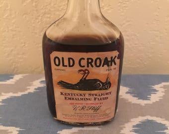 Old croak antique embalming fluid RARE