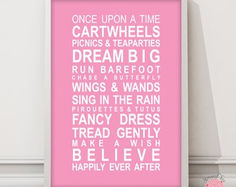 A Little Princess wall art print