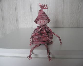 doll in wool and beads