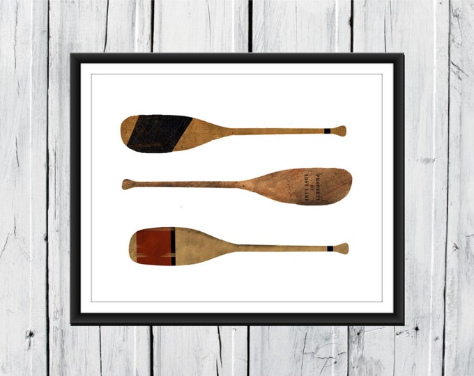 Nautical Nursery -  Beach Decor - Oars - Boating Print - Your choice of Size